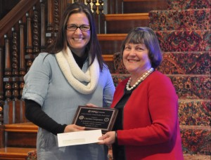 Christa Carpenter receives the Evelyn Thurman Young Readers Award.