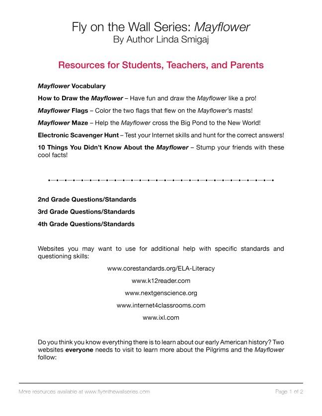 Mayflower-Resources and Websites-www.flyonthewallseries.com