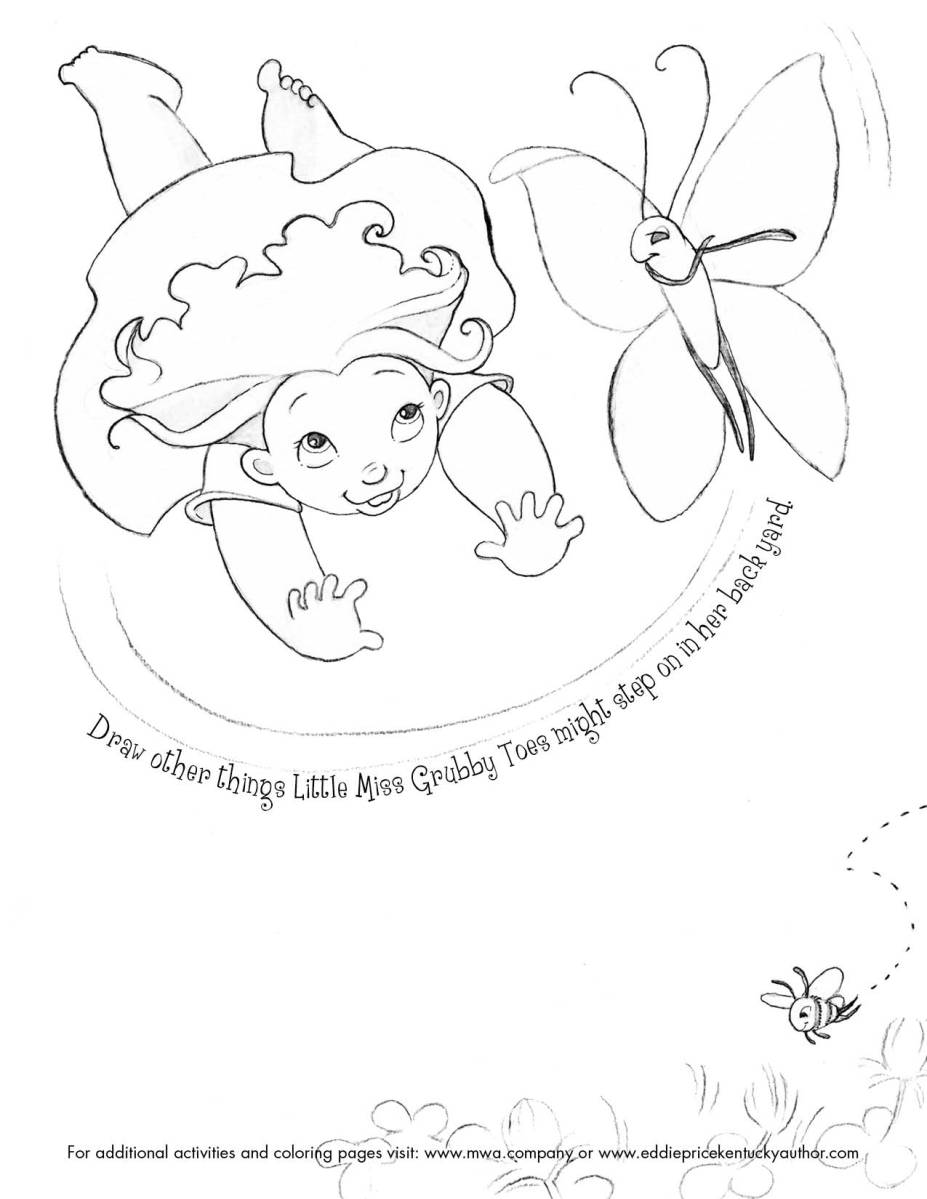 Activity Page Little Miss Grubby Toes Steps On A Bee